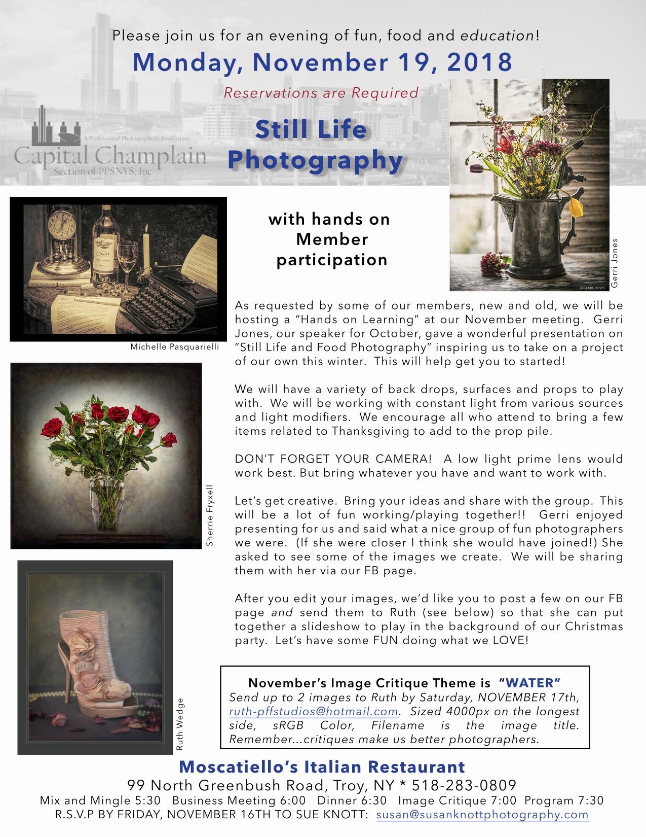 November 19th: Member - Still Life